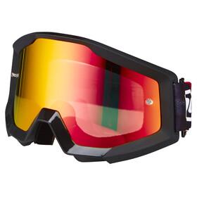 100% Strata Goggles rød/Svart
